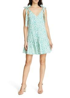 Rebecca Taylor Emerald Daisy Tie Strap Cotton Sundress
