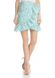 Rebecca Taylor Emerald Ruffled Floral Skirt