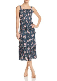 Rebecca Taylor Emilia Floral-Print Silk Midi Dress