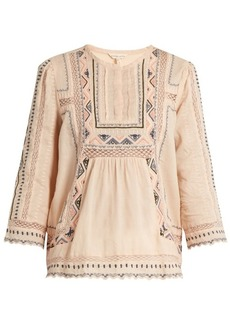 Rebecca Taylor Esme embroidered cotton blouse