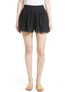 Rebecca Taylor Eyelet Cotton Shorts