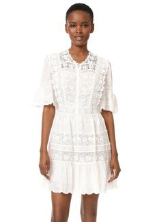 Rebecca Taylor Eyelet Dress with Crochet Trim