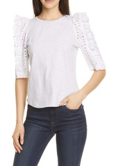 Rebecca Taylor Eyelet Embroidered Top