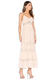 Rebecca Taylor Eyelet Midi Dress in Blush. - size 0 (also in 2,4)