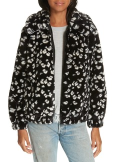 Rebecca Taylor Faux Fur Cheetah Hooded Coat