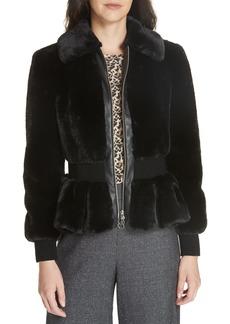 Rebecca Taylor Faux Fur Jacket