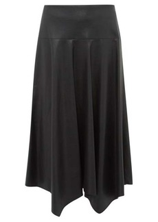 Rebecca Taylor Faux-leather midi skirt