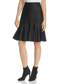 Rebecca Taylor Faux-Leather Skirt - 100% Exclusive