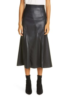 Rebecca Taylor Faux Leather Skirt