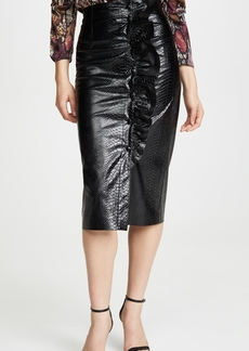 Rebecca Taylor Faux Snake Skirt