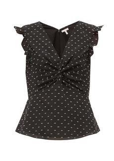 Rebecca Taylor Fil-coupé twist-front blouse