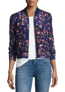 Rebecca Taylor Firework Floral Bomber Jacket