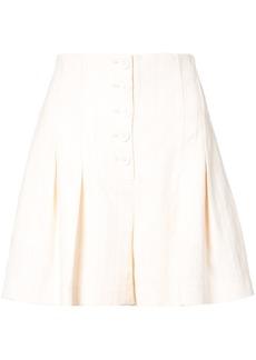 Rebecca Taylor flared tailored shorts - Yellow & Orange