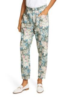 Rebecca Taylor Fleur Forêt Cotton & Linen Pants