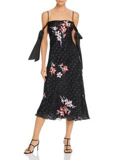 Rebecca Taylor Floral-Burnout Slip Dress