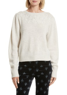 Rebecca Taylor Floral Embroidered Pullover