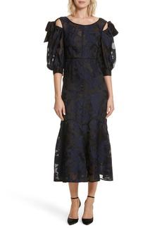 Rebecca Taylor Floral Organza Maxi Dress