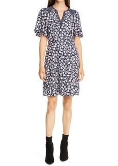 Rebecca Taylor Floral Print A-Line Dress