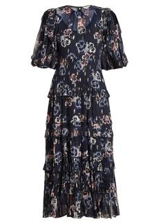 Rebecca Taylor Floral-print crepe midi dress