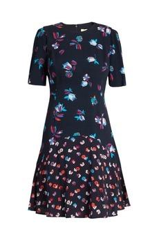 Rebecca Taylor Floral-print fluted crepe dress