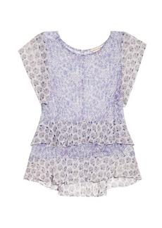 Rebecca Taylor Floral-print silk-georgette top