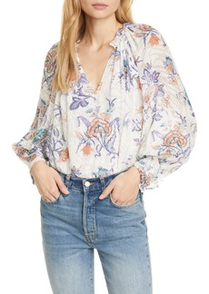 Rebecca Taylor Floral Print Toile Top