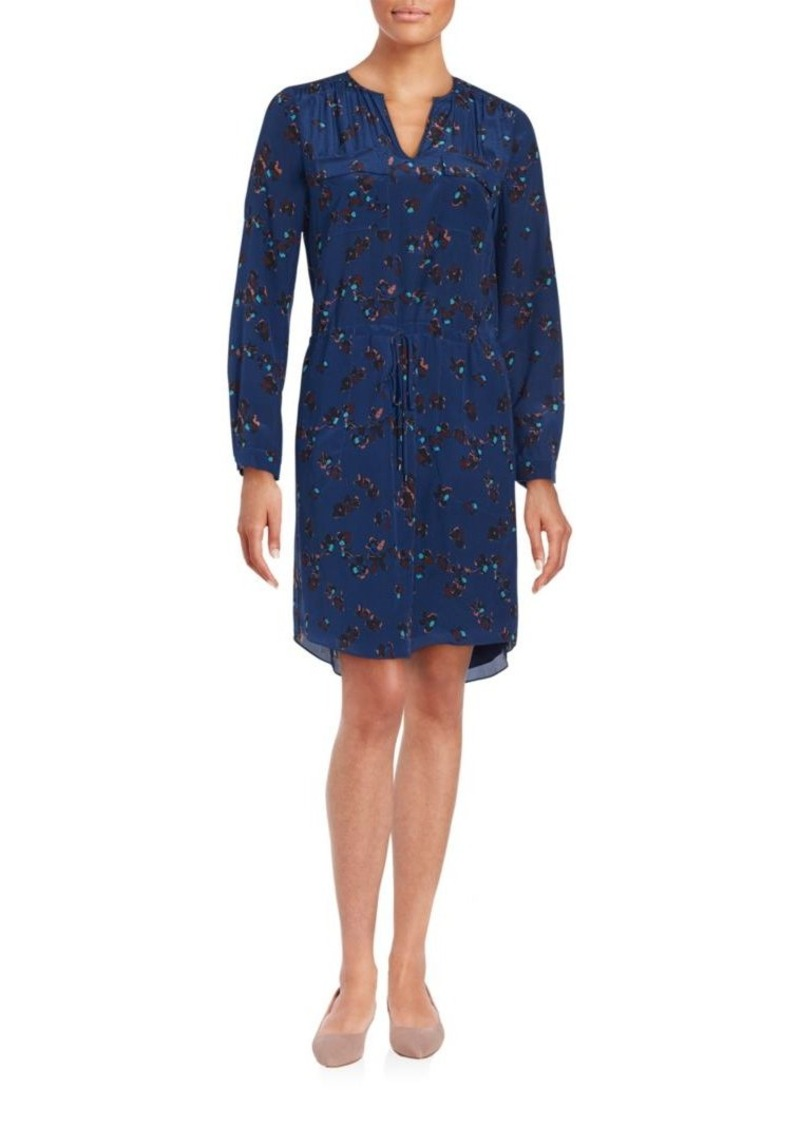 Rebecca Taylor Floral Printed Silk Shirtdress