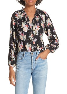 Rebecca Taylor Floral Silk Blouse