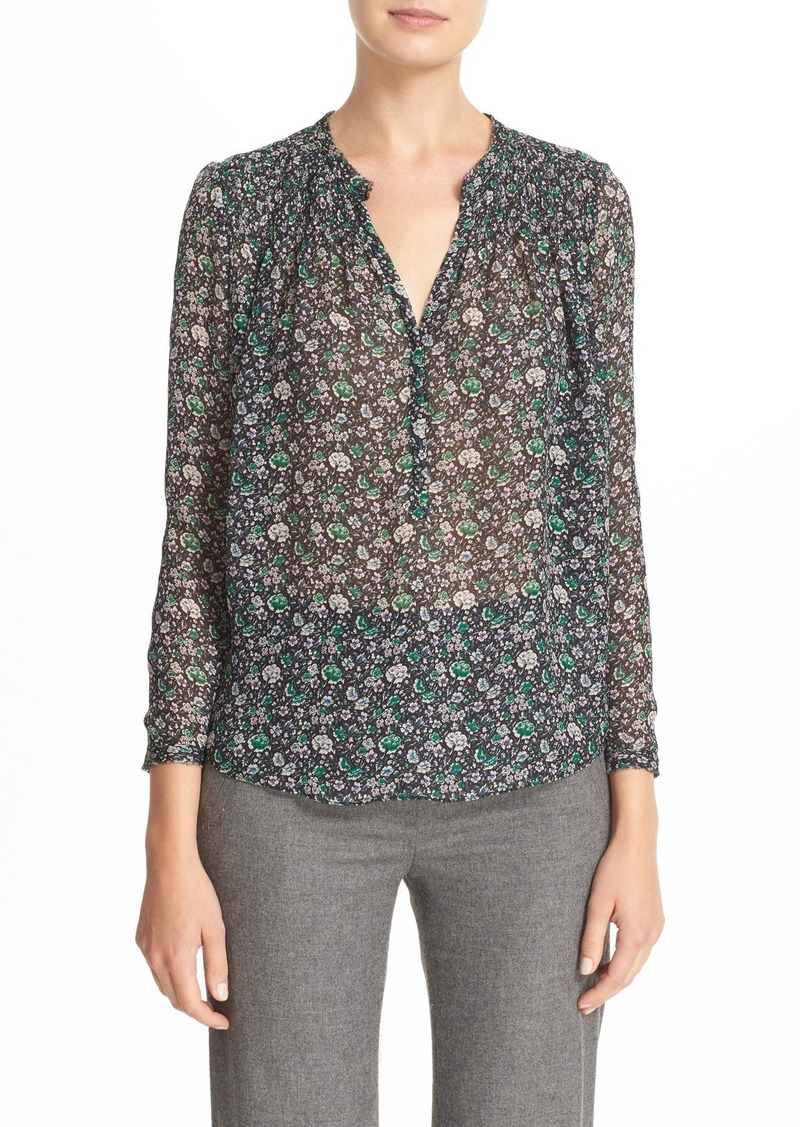 Rebecca Taylor Floral Silk Chiffon Top