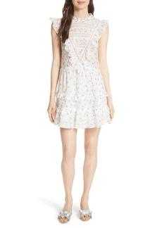 Rebecca Taylor Floral Spring A-Line Dress