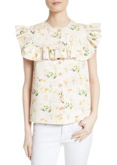 Rebecca Taylor Floral Top