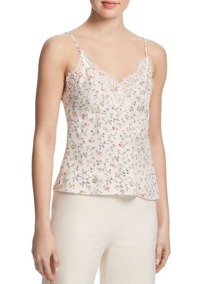Rebecca Taylor Floral Vine Silk Camisole Top