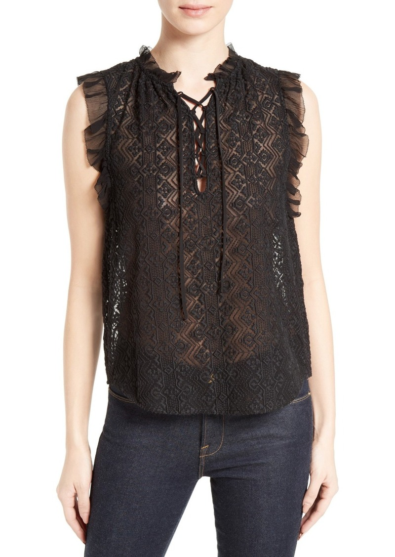 91912447df0 Rebecca Taylor Rebecca Taylor Florence Embroidered Silk Top