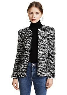 Rebecca Taylor Fluffy Tweed Jacket
