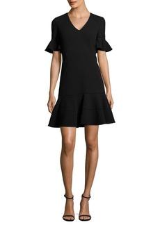 Rebecca Taylor Flutter Sleeves Textured Dress