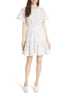 Rebecca Taylor Francine Back Cutout Mini Dress