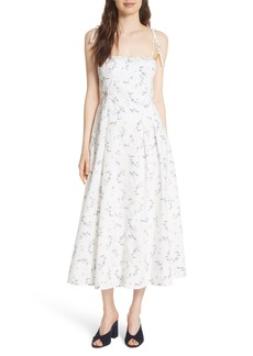 Rebecca Taylor Francine Floral Cotton Poplin Dress