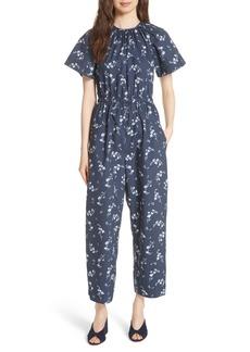 Rebecca Taylor Francine Floral Print Jumpsuit