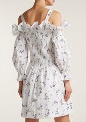 Rebecca Taylor Francine off-the-shoulder floral-print dress