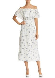 Rebecca Taylor Francine Off-the-Shoulder Floral Silk Dress - 100% Exclusive