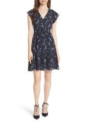 Rebecca Taylor Francine Split Neck Silk Dress
