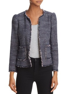 Rebecca Taylor Fray-Edged Tweed Jacket