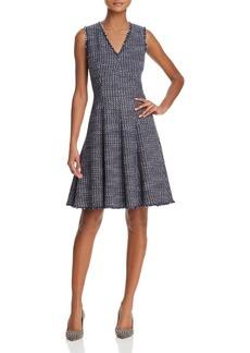 Rebecca Taylor Fray-Trimmed Tweed Dress