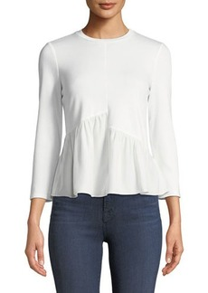 Rebecca Taylor French Terry Silk-Hem Sweatshirt