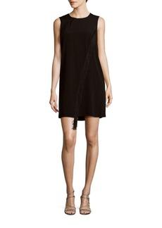 Rebecca Taylor Fringe Solid Shift Dress