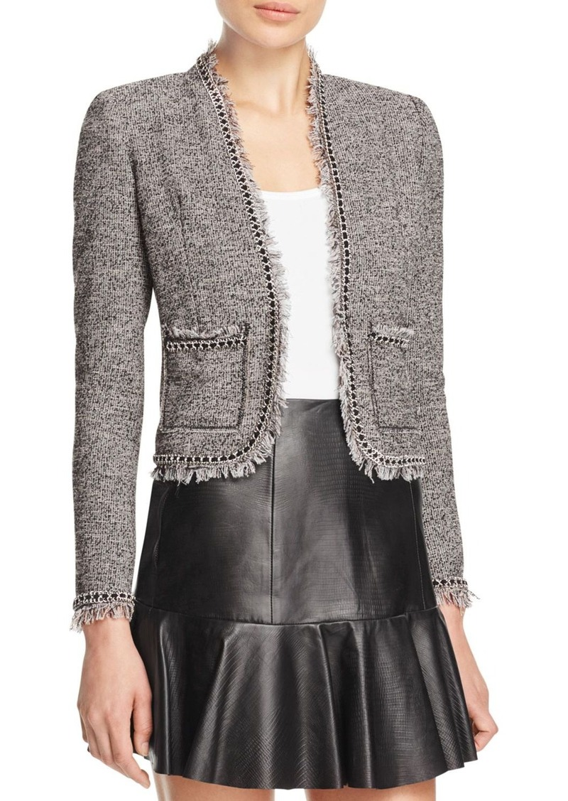 Rebecca Taylor Fringe Tweed Jacket - 100% Bloomingdale's Exclusive