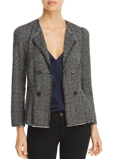 Rebecca Taylor Fringed Tweed Jacket