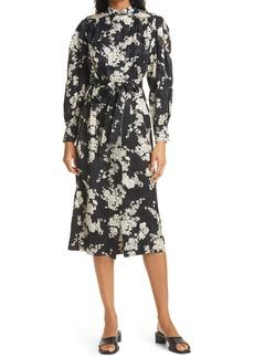 Rebecca Taylor Gabrielle Long Sleeve Silk Blend Dress