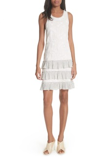 Rebecca Taylor Garden Eyelet Linen Shift Dress