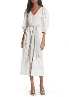Rebecca Taylor Garden Eyelet Midi Dress